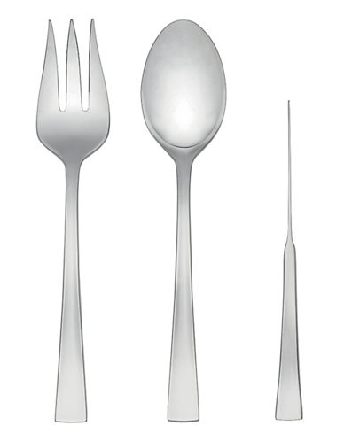 Kate Spade New York Flatiron Three-Piece Serving Set-STAINLESS STEEL-One Size