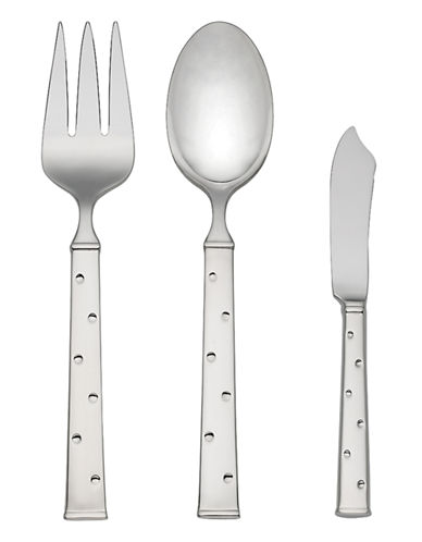 Kate Spade New York Larabee Dot Three-Piece Serving set-STAINLESS STEEL-One Size