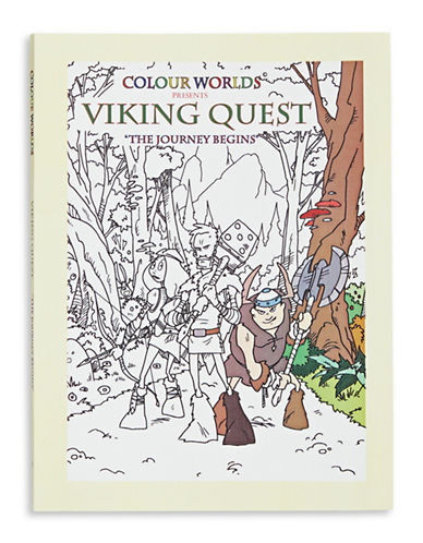 Colourkings Viking Quest - The Journey Begins Colouring Book-NO COLOUR-One Size