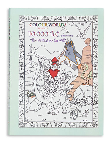 Colourkings 10000 BC - The Writing On The Wall Colouring Book-NO COLOUR-One Size