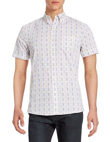 Kennington Arrow Short-Sleeve Shirt-BLUE-Large
