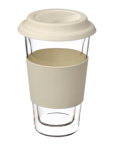 Grosche Glassen Double Walled Travel Mug-WHITE-One Size