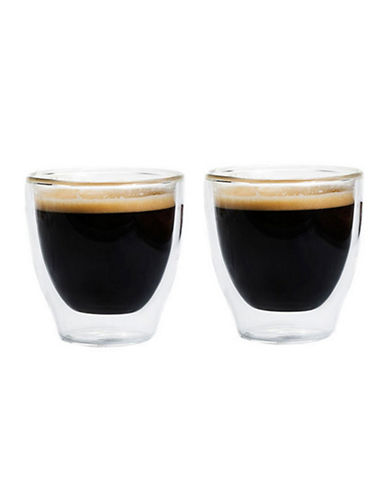Grosche Set of Two Turino Double Walled 140ml Espresso Cups-CLEAR-One Size