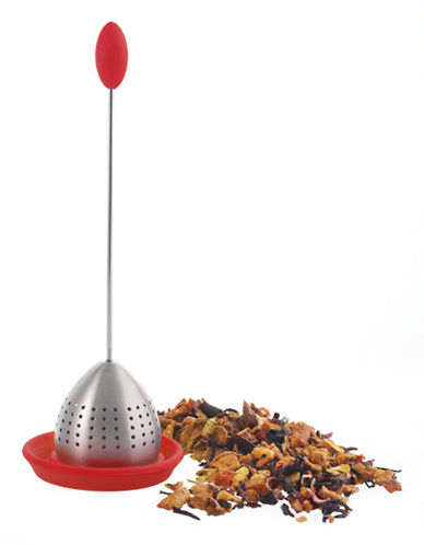 Grosche Tulip Tea Infuser-RED-One Size