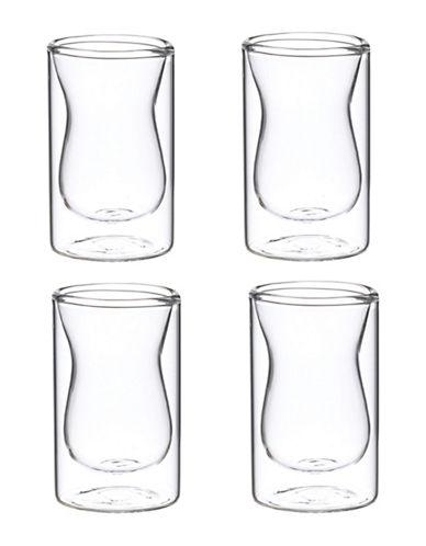 Grosche Four-Piece Istanbul 3oz Shot Glass Set-CLEAR-One Size