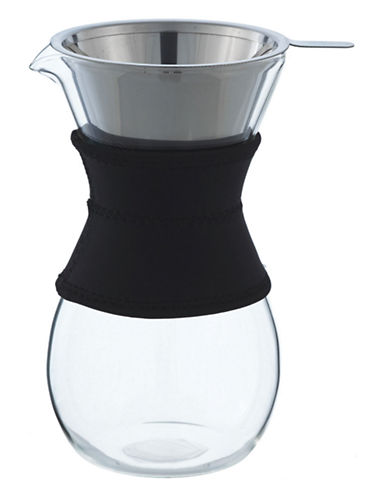 Grosche Austin Coffee Pot with Stainless Steel Infuser 600ml-BLACK-One Size