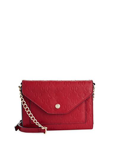 Nine West Aleksei Monogram Crossbody-RED-One Size