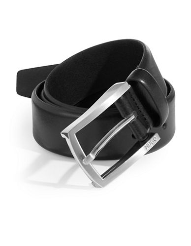 Boss C-Barney-L Leather Belt-BLACK-32