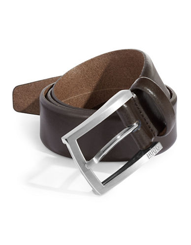 Boss C-Barney-L Leather Belt-DARK BROWN-36