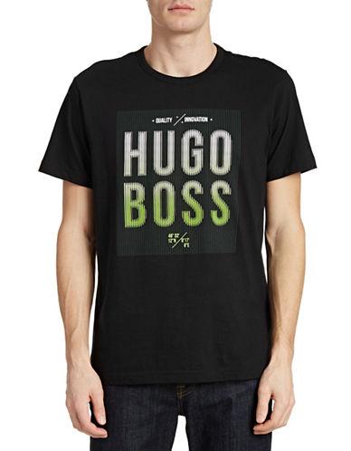 Boss Green Logo Print T-Shirt-BLACK-Large 87982966_BLACK_Large