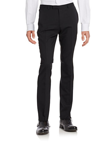Hugo Wool Dress Pants-BLACK-30