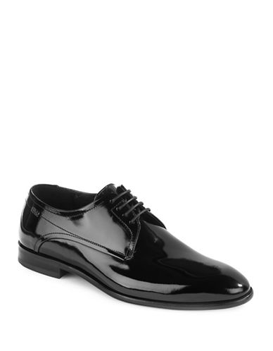 Hugo Dresspat Patent Leather Derby Shoes-BLACK-UK 12/US 13