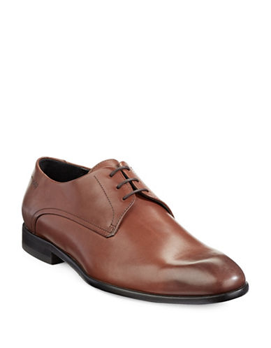 Hugo Dresios Leather Shoes-MEDIUM BROWN-UK 8/US 9