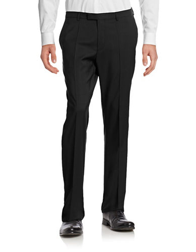 Hugo Sharp Lightweight Wool Suit Pants-BLACK-EU 50/US 34X32