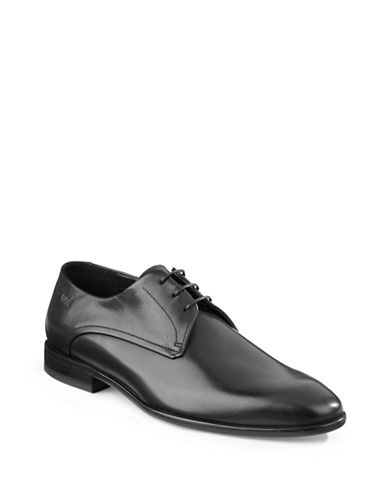 Hugo Dresios Leather Dress Shoes-BLACK-UK 11.5/US 12.5