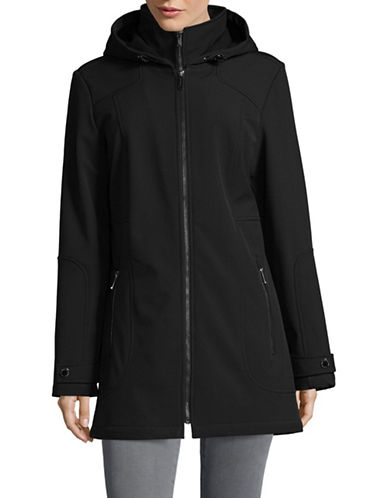 London Fog Softshell Zip Jacket with Gilet-BLACK-Large