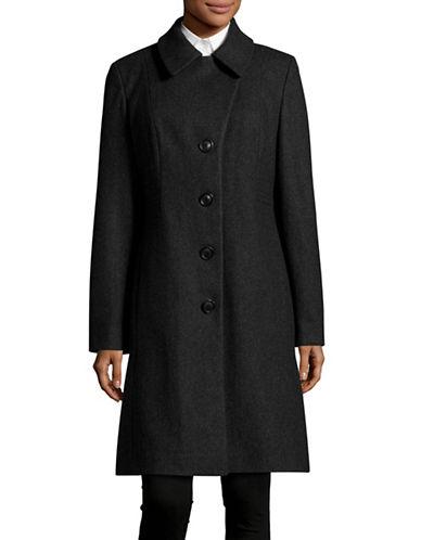 Anne Klein Notch Walker Coat-CHARCOAL-Small