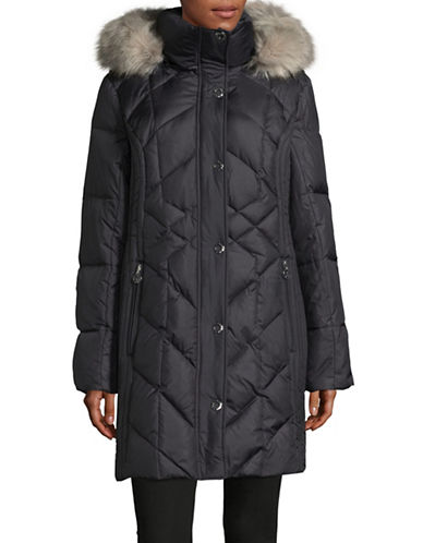 Anne Klein Walker Down Parka-GREY-Large
