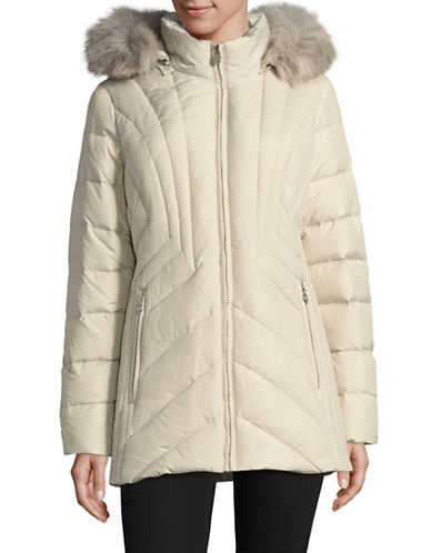 Anne Klein Quilted Hood Parka-QUARTZ-Medium