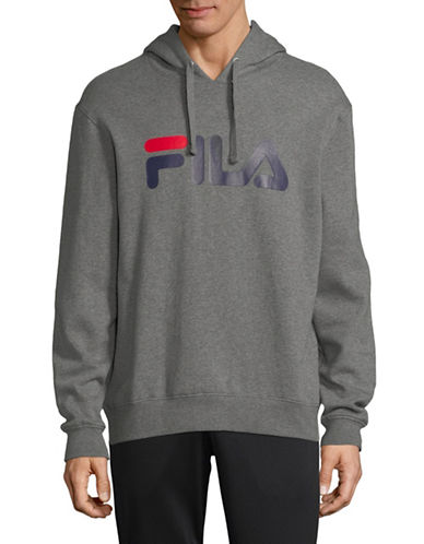 Fila Queens Cotton Hoodie-GREY-X-Large