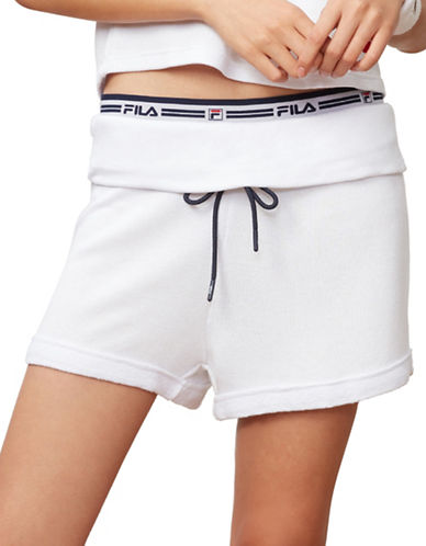 Fila Betty French Terry Shorts-WHITE-Medium