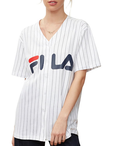 Fila Lacey Baseball T-Shirt-WHITE-Medium 89989375_WHITE_Medium