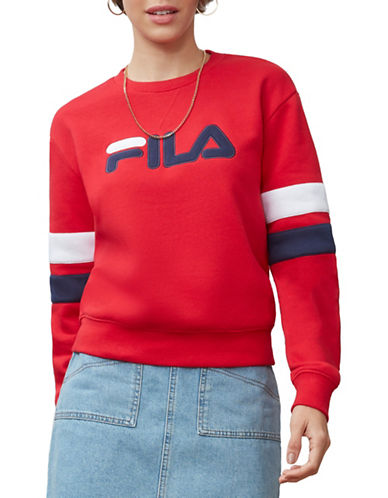 Fila Newton Graphic Sweatshirt-RED-X-Small