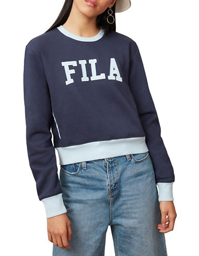 Fila Sheena Cropped Sweatshirt-NAVY-Medium