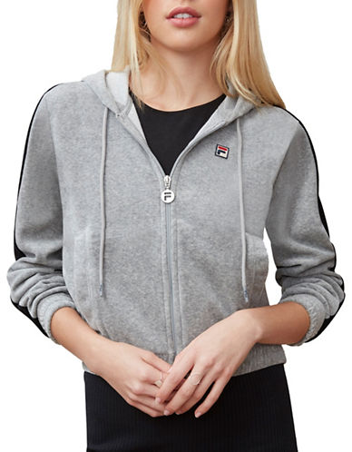 Fila Carly Velour Jacket-GREY-X-Large 89873410_GREY_X-Large