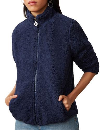 Fila Stevie Full-Zip Sherpa Jacket-NAVY-Medium