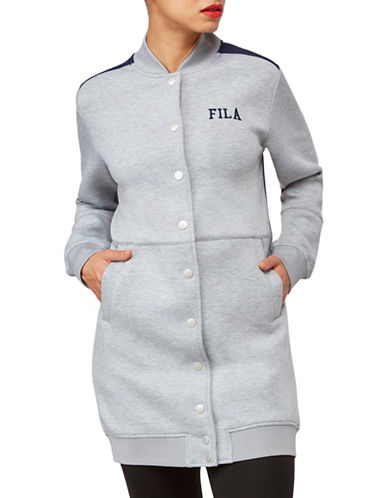Fila Jonie Stadium Jacket-GREY-Medium