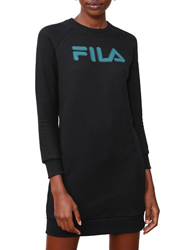 Fila Courtney Sweater Dress-BLACK-Small