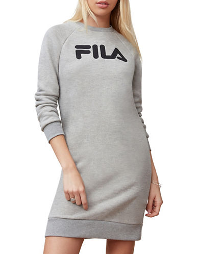 Fila Courtney Sweater Dress-GREY-Large