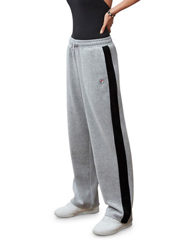 Fila Bonnie Velour Pants-GREY-Large