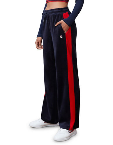 Fila Bonnie Velour Pants-NAVY-Medium