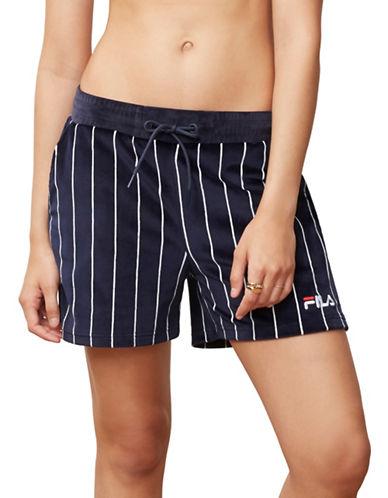 Fila Maryana Striped Velour Shorts-BLUE-X-Large 89989441_BLUE_X-Large