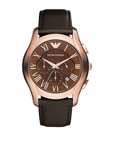 Emporio Armani Classic Stainless Steel Watch-BROWN-One Size