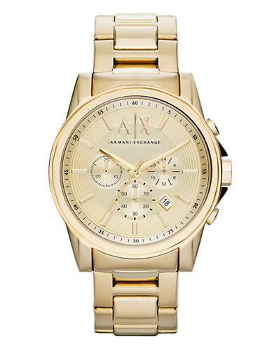 Armani Exchange Gold tone Chronograph on Bracelet-GOLD-One Size