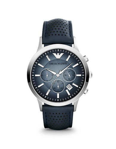 Emporio Armani Mens Chronograph Renato Watch AR2473-BLUE-One Size