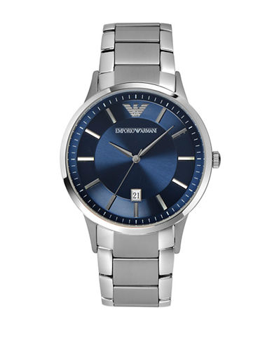 Emporio Armani Unisex Navy Watch-BLUE-One Size