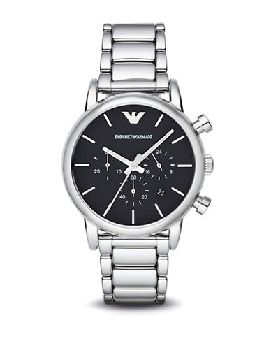 Emporio Armani Mens Stainless Steel Chronograph Watch AR1853-SILVER-One Size