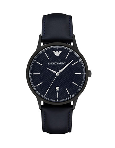 Emporio Armani Analog Stainless Steel Watch-BLUE-One Size
