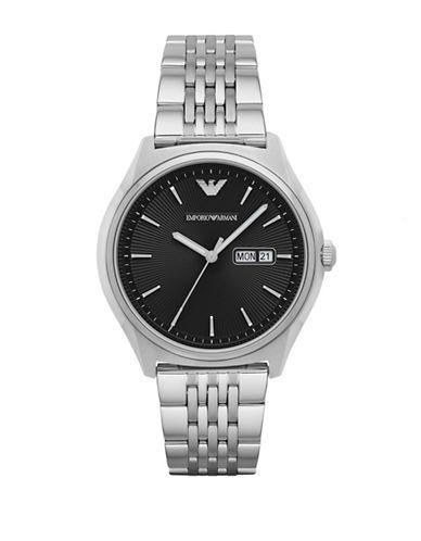 Emporio Armani Analog Dress Zeta Stainless Steel Bracelet Watch-SILVER-One Size