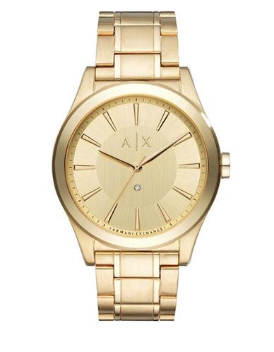 Armani Exchange Analog SMART NICO Goldtone Stainless Steel Watch-GOLD-One Size