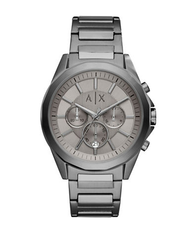 Armani Exchange Chronograph Drexler Stainless Steel Bracelet Watch-GREY-One Size