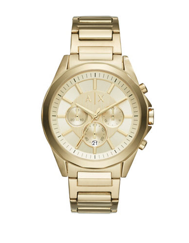 Armani Exchange Chronograph Drexler Smart Collection Stainless Steel Watch-GOLD-One Size