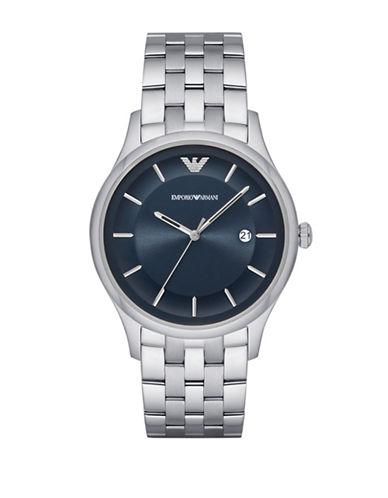 Emporio Armani Analog Lambda Stainless Steel Bracelet Watch-SILVER-One Size