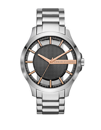 Armani Exchange Hampton Stainless Steel Bracelet Watch-SILVER-One Size