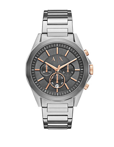 Armani Exchange Drexler Quartz Chrono Two-Tone Bracelet Watch-SILVER-One Size