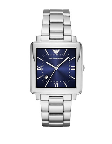 Emporio Armani Dress Modern Square Bracelet Watch-SILVER-One Size